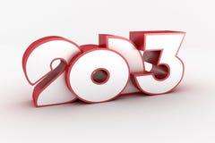Happy new year. 3D happy new year 2013 Stock Photos