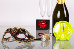 Happy New Year!!!. New Year celebration with champagne Royalty Free Stock Photo