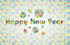 Happy New Year. Colorful sign happy new year Royalty Free Stock Photos