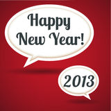 Happy New Year!. EPS 10 file with transparency effects.  File uses global color swatches Royalty Free Stock Image
