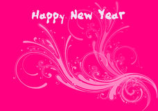 Happy new year 3. Happy new year illustration on colorful background Stock Images
