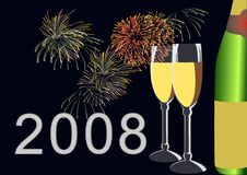 Happy New Year. In 2008 Royalty Free Stock Photo