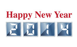 Happy New Year 2014.  Royalty Free Stock Photography