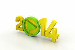 Happy new year. In white color background Stock Photography