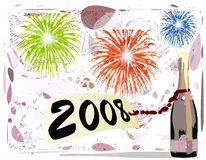Happy new year. In 2008 Royalty Free Stock Images