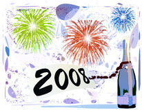 Happy new year. In 2008 Stock Image