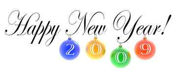 Happy New Year. 3D text: Happy New Year! (2009 Royalty Free Stock Photos