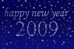 Happy new year!. The best desires for a new 2009 stock illustration