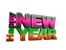 Happy new year. 3d text , Happy new year Stock Image