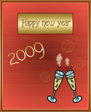 Happy new Year. Illustration-happy new year 2009 Stock Photos