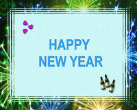 Happy new Year. Illustration-happy new year -holiday Royalty Free Stock Photos