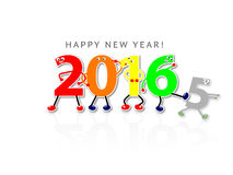 2015-2016 Happy new year. ! Stock Photography