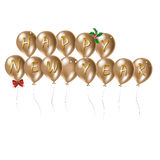 Happy new year. Illustration with balloons with the words happy new year Royalty Free Illustration