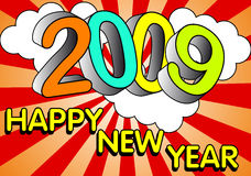 Happy new Year. 2009. Happy new year greetings card Royalty Free Stock Photos