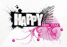 Happy New Year. Black and purple. Happy Holidays Royalty Free Stock Photography