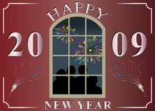 Happy new year. Vector illustration of happy new year 2009 Stock Images