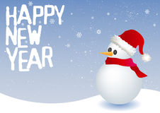 Happy new year. Vector illustration of a snowman Stock Photography