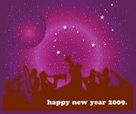 Happy New Year. Illustration of jazz band on new year background Royalty Free Stock Photography