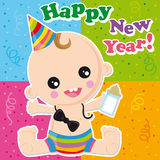 Happy new year royalty free illustration