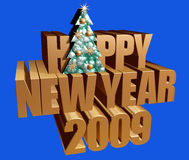 Happy New Year. Happy new year 2009. Image with clipping path Royalty Free Stock Photography