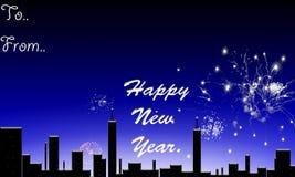 Happy new year. Happy new year above the night sky Royalty Free Stock Photos