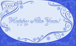 Happy new year. Decorative composition by new year with the stylized elements Stock Image