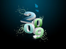 Happy new year. New beautiful image of new year 2009 Stock Image