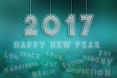 2017, happy new year 2017 Stock Photos