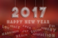 2017, happy new year 2017.  Royalty Free Stock Image
