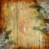 Happy New Year abstract background. With spruce branch stock photo