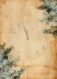 Happy New Year abstract background. With spruce branch Stock Photos