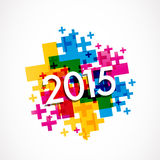 2015 Happy New Year. Abstract Background Royalty Free Illustration