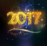 Happy new year 2017 abstract background Stock Photo