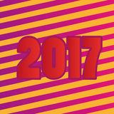 Happy new year 2017 abstract background. Happy new year 2017 background for any use Stock Photo