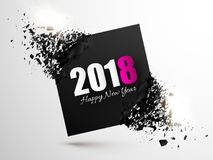 Happy New Year 2018 Abstract Background. Banner with explosion effect. Royalty Free Stock Photography