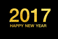 Happy new year 2017 on Abstract  background. Happy new year 2017  Abstract bokeh background.Can be used bokeh texture and bokeh background Stock Images