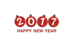 Happy new year 2017 on Abstract  background. Royalty Free Stock Photos