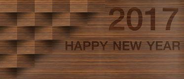 Happy new year 2017 on Abstract  background. Happy new year 2017  Abstract bokeh background.Can be used bokeh texture and bokeh background Royalty Free Stock Photo