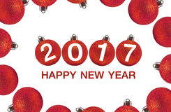 Happy new year 2017 on Abstract  background. Happy new year 2017  Abstract bokeh background.Can be used bokeh texture and bokeh background Royalty Free Stock Photography