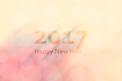 Happy new year 2017. Abstract background with motion blur and bo Royalty Free Stock Images