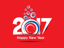 Happy new year 2017 abstract background. Vector illustration Royalty Free Stock Photos