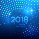 Happy New Year 2018 abstract light background Royalty Free Stock Photos