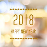 Happy New Year 2018 on abstract blur festive bokeh background, b. Anner Stock Photography