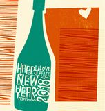 Happy New Year 2018 abstract champagne bottle Royalty Free Stock Photos