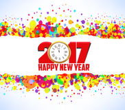 Happy new year 2017. Abstract colorful background Royalty Free Stock Photography