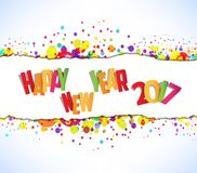 Happy new year 2017. Abstract colorful background Stock Image