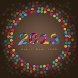 2018 happy new year, abstract design 3d, vector illustration Stock Photography