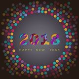 2018 happy new year, abstract design 3d, vector illustration Stock Photos