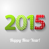 2015 1. 2015 Happy New Year.Abstract design text Royalty Free Stock Photos