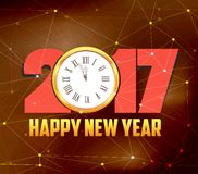 Happy new year 2017. Abstract Geometric Background.  royalty free illustration